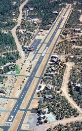 Bird's eye view of the Mogollon Airpark on the Mogollon Rim of the White mountains in Heber Overgaard Arizona, where owning a second home or cabin is still affordable and an easy drive from Phoenix.  MHS Realty is proud to cover your real estate needs in Heber Overgaard Arizona.  Cabins, Homes, Commercial, Investment, 1031 Exchanges, all types of Real Estate
